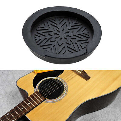 "Pro Soundhole Sound Hole Cover Block For Acoustic Guitar 38""/39"" Protector Black"