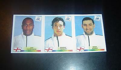 Panini WC France 1998 98 set of  RARE 3 England players