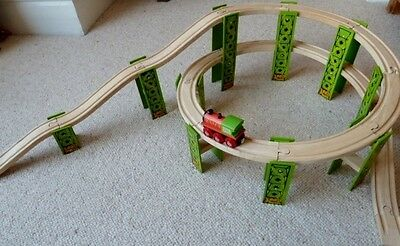 Spiral Wooden Train Track Circuit - Brio/elc/bigjigs - Thomas The Tank Engine