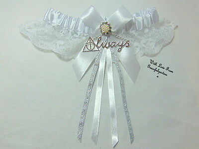 Harry Potter Deathly Hallows Always Lace Wedding garter. hogwarts