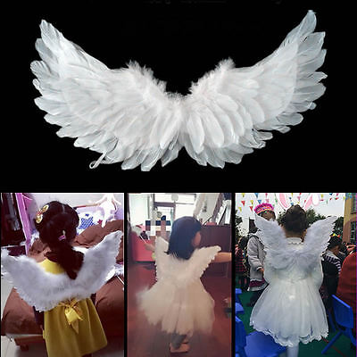 NEW Kids Girls Feather Fairy Angel Wings Christmas Halloween Party Costume