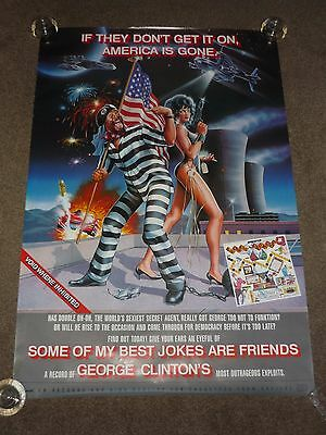 "George Clinton ""Some Of My Best Jokes Are Friends"" 1985 US Capitol Promo Poster"