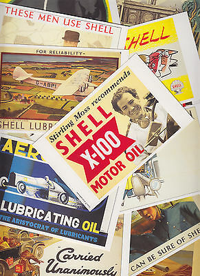 20 cartes postales reproduction anciennes affiches publicitaires SHELL + OPIE L3