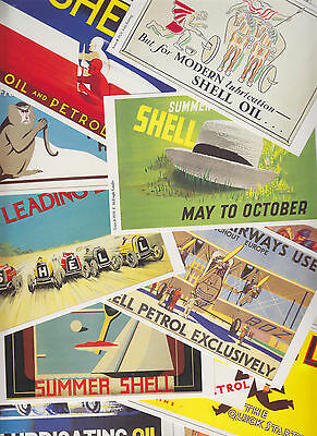 20 cartes postales reproduction anciennes affiches publicitaires SHELL + OPIE L5