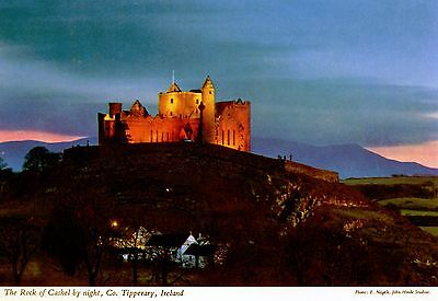 Rock of Casel: Co. Tipperary : at night.