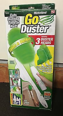 Barely Used Go Duster Cleaning With 3 Different Heads Battery Operated
