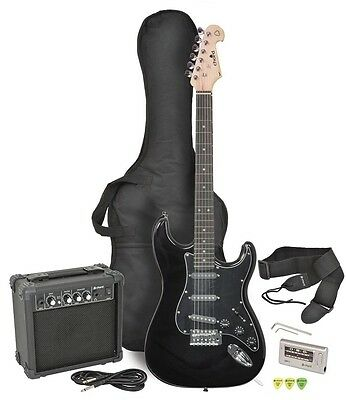 Chord Black Electric Guitar Amplifer w CaseTuner Plectrum Cable Pack CAL63PK