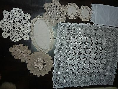 Lace Crochet Doilies Bulk Pack Vintage Hand Made