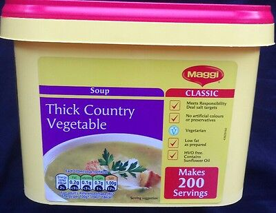 MAGGI CLASSIC THICK COUNTRY VEGETABLE SOUP  2kg MAKES 200ptn.  BBE 5/2017