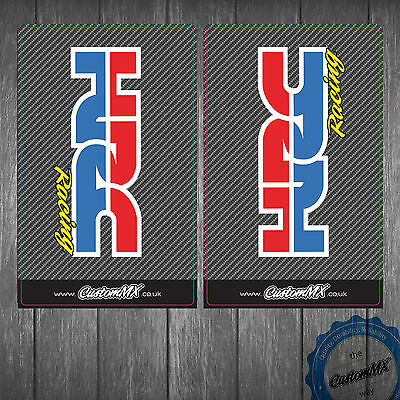 Honda HRC Carbon Upper Fork Graphics - CRF KXF RMZ SXF YZF etc Stickers Decals