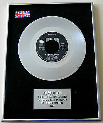 "AEROSMITH Dude (Looks like a lady) 7"" Single PLATINUM DISC Presentation"