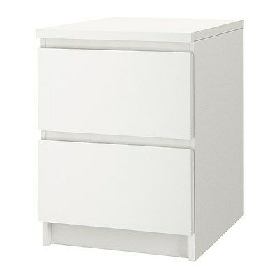 IKEA MALM - Chest of 2 drawers, white - 40x55 cm