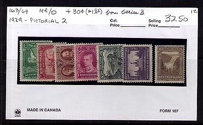 Newfoundland 1929-31 Stamps ,sc#163-67;169;182 Mh/used
