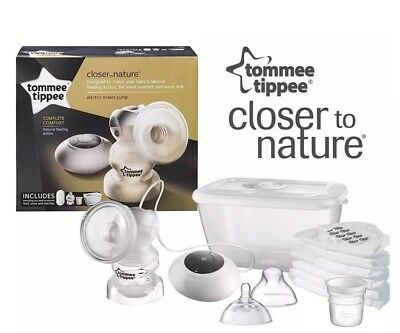 Tommee Tippee Closer To Nature Electric Breast Pump Bundle Set  Feeding Bottles