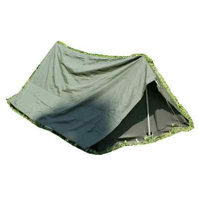 """French army surplus 2 man olive green """"commando"""" tent"""