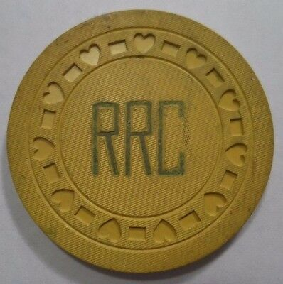 RRC Casino Poker Chip vintage Old UFC Unidentified unknown Gambling