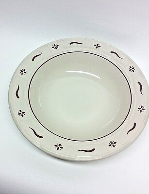 """Longaberger Woven Traditions 10"""" Pasta Soup Serving Bowl Traditional Red"""