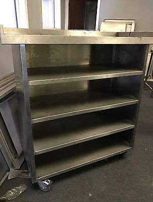 Commercial stainless steel shelving unit