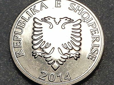 New Albania 5 Leke 2014 Released December 2016 New variety Double Head Eagle