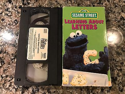sesame street learning about letters vhs sesame learning about letters vhs 14 99 10883