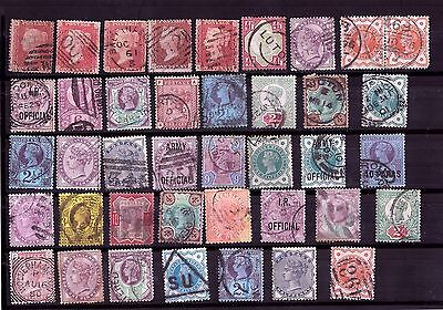 GB QV Queen Victoria stamp collection Including Penny Red 1d (40 stamps) #3