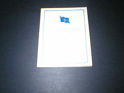 1948 Oxford University, University College Boat Club, The Eights, Score Card