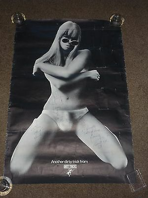 Dirty Tricks 1975 UK Promo Poster (Fully Signed)
