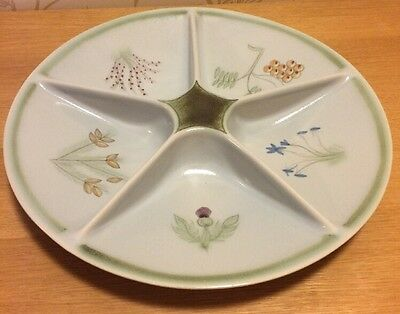 Buchan Pottery - Thistle - Hors D'Oeuvres / Divided Serving Dish - Immaculate