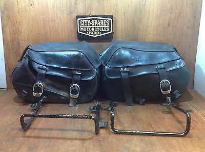 Harley Davidson 883 Panniers Luggage case soft leather Back boxes Cruiser racks