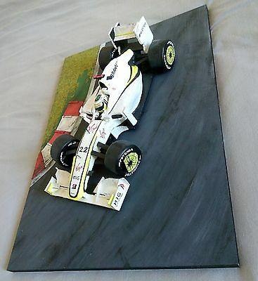 Brawn GP Jenson Button F1 Car 1:16 Painted Model Scale Display Not Diecast