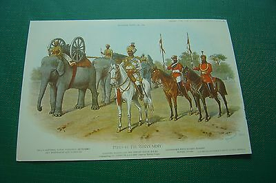 Postcard Air India Types of The Indian Army