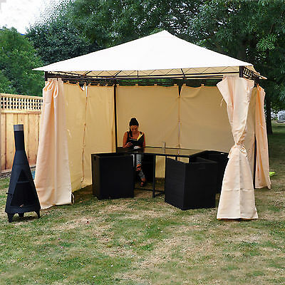 Kingfisher Heavy Duty Gazebo with Side Curtains