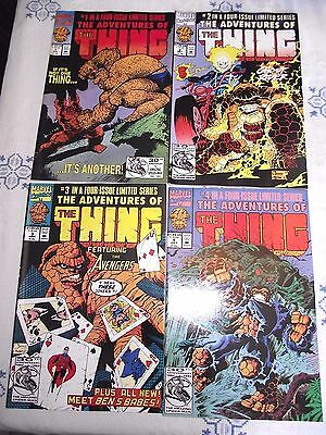 Adventures of The Thing #1-4 (of 4) 1992 Avengers Swamp Thing Quesada VG - FN