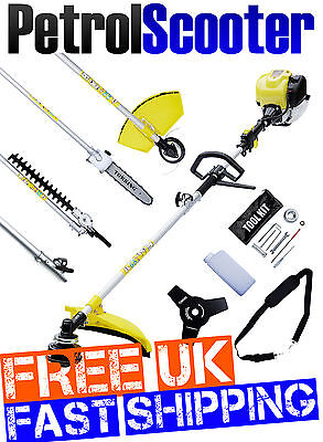 Multitool 5 In 1 4 Stroke Strimmer Brushcutter Polesaw Chainsaw Extended Pruner
