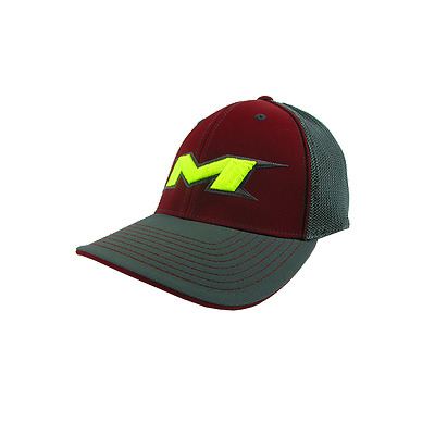 Miken Hat by Pacific (404M) Charcoal/Char/Maroon/Char/Volt SM/MD(6 7/8- 7 3/8)