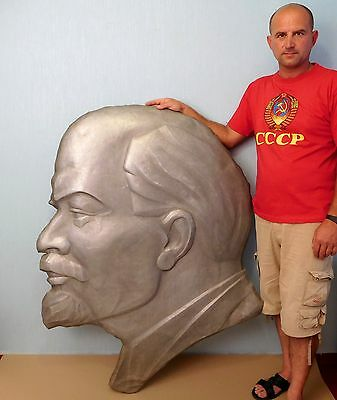 Original Soviet Russian Very Big Bas relief of Communist leader V.Lenin 70s USSR