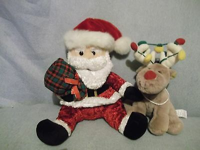 Santa  Best Made Toys & Hudson's Bay Reindeer with lights - clean & soft plush