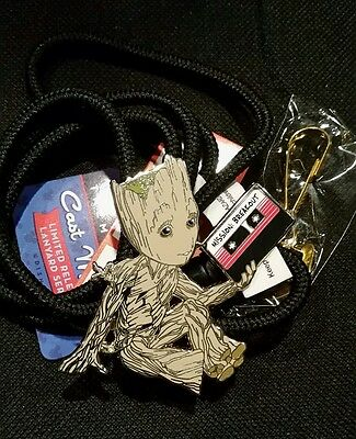 Disney Groot Guardians Of The Galaxy Vol 2 CAST EXCLUSIVE BOLO Pin LANYARD