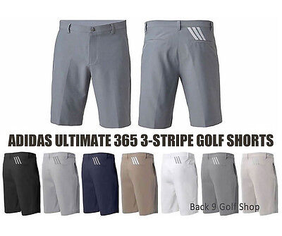 2017 Adidas Golf Ultimate 365 3-Stripes Short Mens Pick a Size and Color