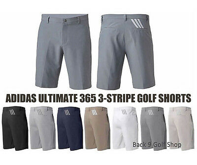 Adidas Ultimate 365 3-Stripes Short Golf - New 2017