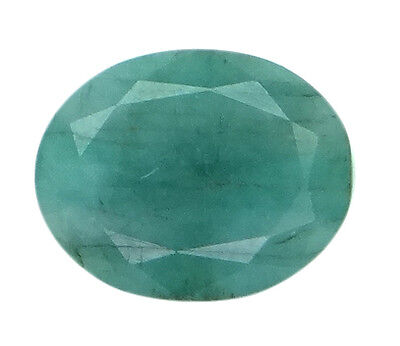 4.86ct/5.4 Ratti NATURAL&IIGS CERTIFIED EMERALD PANNA ASTROLOGICAL STONE AGJ2061