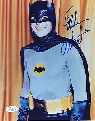 ADAM WEST AUTHENTIC SIGNED 8x10 PHOTO     BATMAN      JSA COA     SIGNED TO MIKE