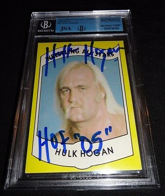 1982 Wrestling All Stars Hulk Hogan Signed Rookie Autograph JSA/BGS 9 Mint Auto
