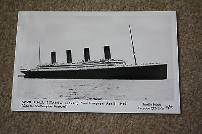 Titanic Stamped Postcard  70Th Anniversary Of Maiden Voyage.