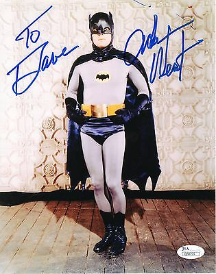 ADAM WEST AUTHENTIC SIGNED 8x10 PHOTO     AS BATMAN      JSA      SIGNED TO DAVE