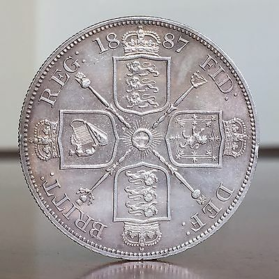 Victoria Double Florin, Four Shillings, 1887. Proof-like.