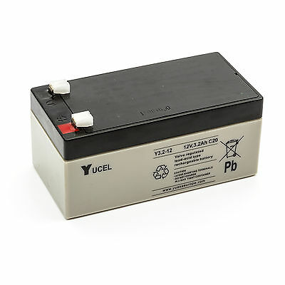 Yuasa Yucel Y3.2-12 Sealed Lead Acid Battery 12v 3.2ah Rechargeable Waterproof
