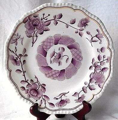 Early C19Th Davenport Staffordshire Hand Painted Plate With A Floral Pattern