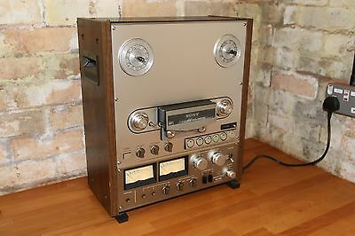 "Beautiful vintage Sony TC-765 reel to reel tape recorder 10.5""  4-track"