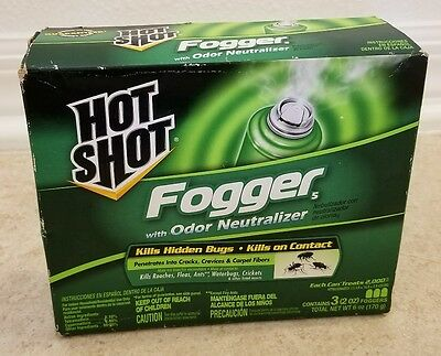 Hot Shot Fogger with Odor Neutralizer 3 x 2 oz. (3 total cans) - NEW